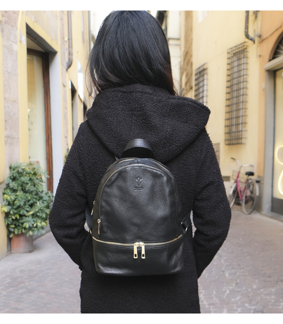 "Leather Backpack ""Florence"""
