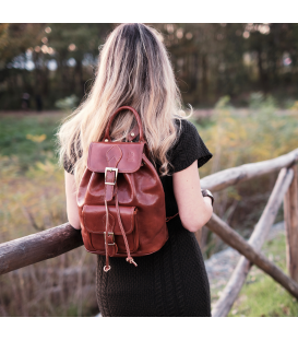 Leather Backpack lady