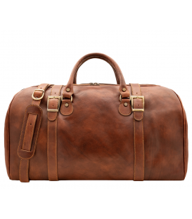 "Leather Travel Bag ""Warsaw"""
