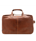 """Leather Travel Bag with Wheels """"Perseo"""""""