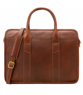 "Leather Briefcase - PC Bag ""Davos"""