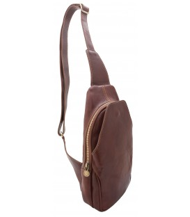 leather chest bag