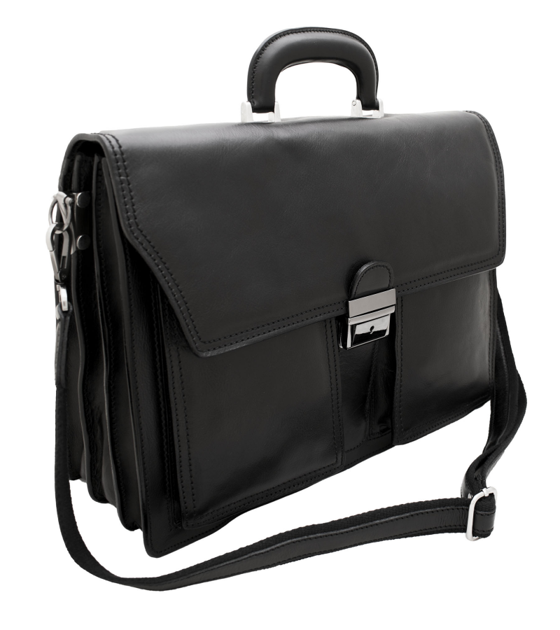 8d31db72fc Italian Leather Briefcase | Mens Laptop Briefcase - Commergo