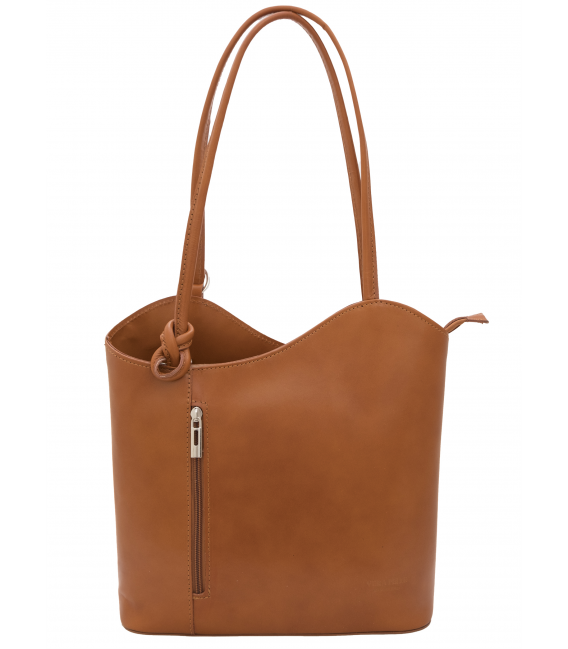 tan leather backpack womens