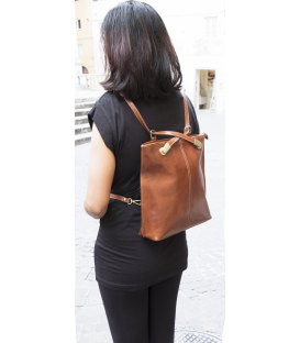 brown leather backpack womens | leather anti theft backpack