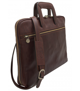 Slim leather Briefcase | slim leather laptop bag