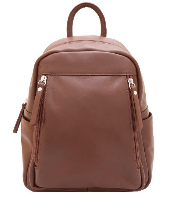 small leather backpack | small brown leather backpack