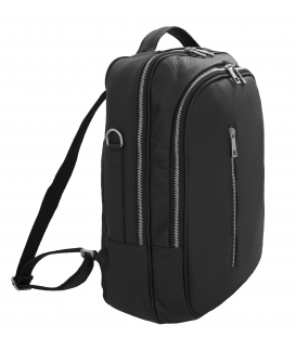 leather computer backpack | black leather laptop backpack