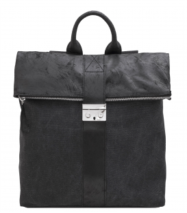 canvas and leather backpack | square leather backpack