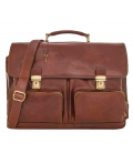 "Leather Briefcase ""Metz"""