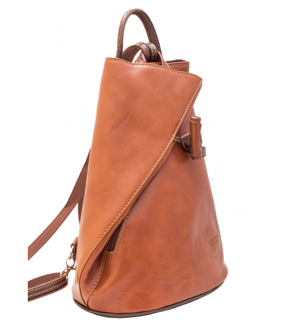 real leather backpack | cognac backpack