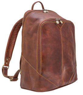 brown leather backpack | leather laptop backpack mens
