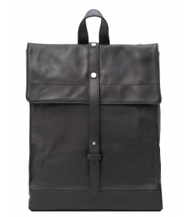 black leather backpack mens | black soft leather backpack