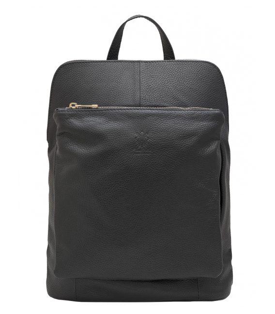 black leather convertible backpack
