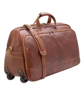 leather travel bag | leather rolling duffle bag