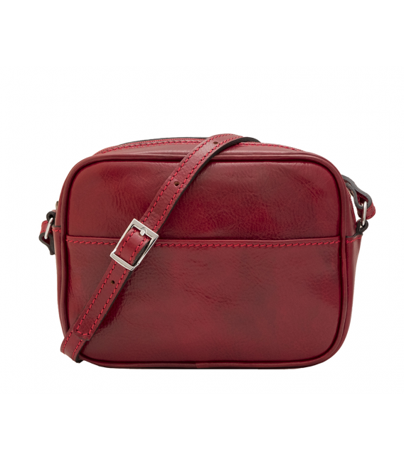 small red leather bag