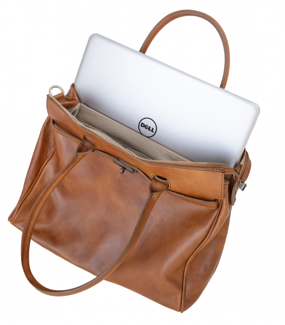 womens leather laptop tote