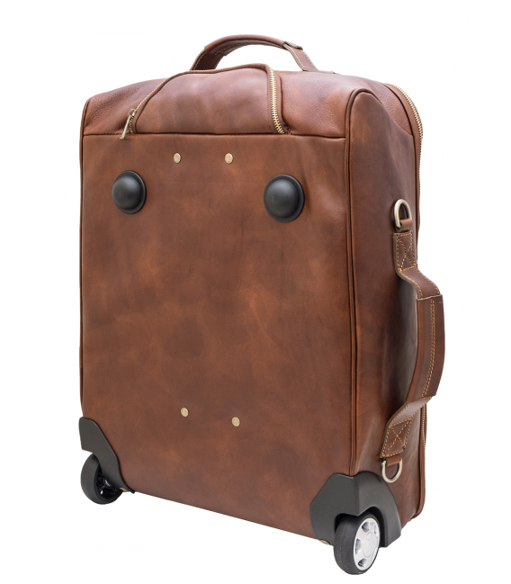 leather carry on with wheels