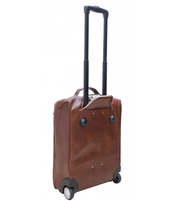 """Leather Travel Bag with Wheels """"Vancouver"""""""