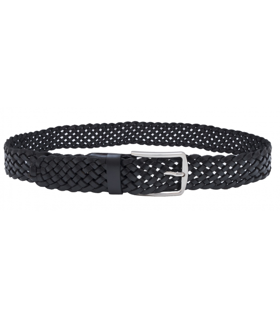 mens woven leather belt