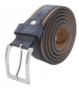 blue leather belt mens