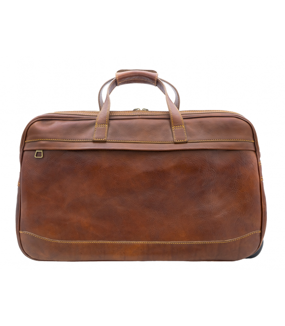 leather luggage bags with wheels