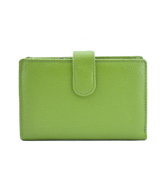 green leather wallet womens