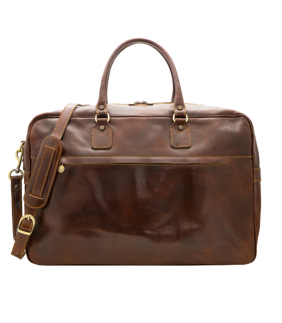 large leather holdall | leather luggage straps