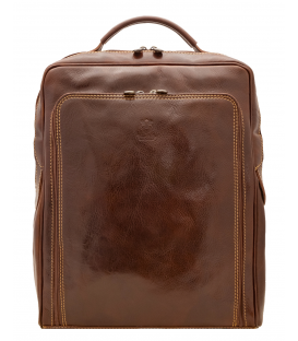 brown leather backpack mens | square leather backpack