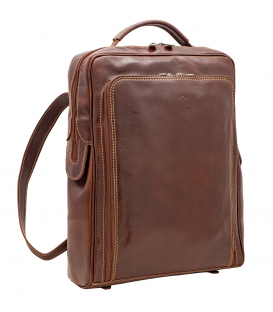 brown leather backpack | leather work backpack