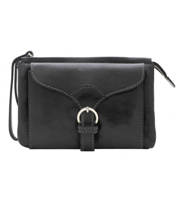 black leather crossbody bag | black leather belt bag