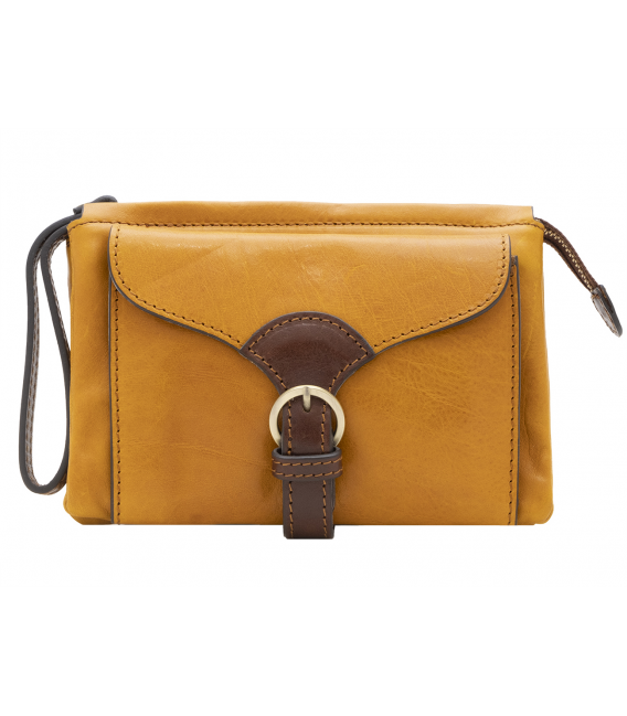yellow leather crossbody bag | leather crossbody belt bag