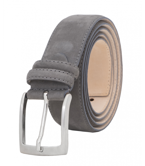 mens grey leather belt