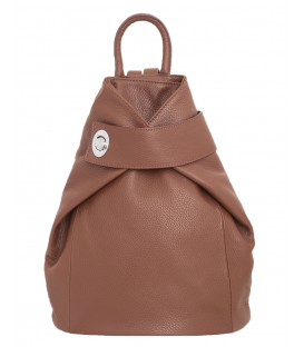 brown leather backpack womens
