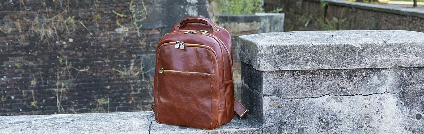 Men Leather Backpack